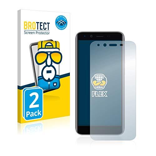BROTECT Full-Cover Schutzfolie kompatibel mit Emporia Smart 3 Mini (2 Stück) - Full-Screen Bildschirmschutz-Folie, 3D Curved, Kristall-Klar