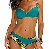 CheChury Costume da Bagno Donna Brasiliana Bikini Sexy Push Up Halter Regolabile Due Pezzi Costumi da Mare Spiaggia Vita Bassa Fondo
