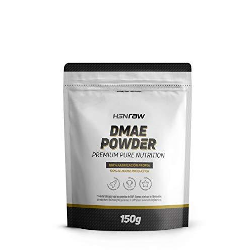 HSN Raw DMAE en polvo Suplemento para Estudiar, Potencia la Capacidad Cognitiva, Concentración, Aprendizaje | Vegano, Sin Gluten, Sin Lactosa, 150gr