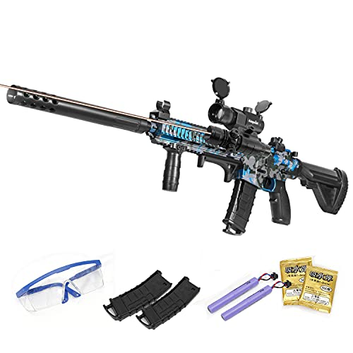 Gel Ball Blaster Toy with Goggles&15000 Water Bead, Electric Gel Gun Blaster for Outdoor Backyard Activities-Shooting Games, Toy for Adults, Boys and Girls Ages 12+