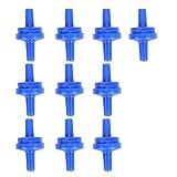 cloudbox Válvula de retención de Acuario -10 Piezas Válvula de retención de Bomba de oxígeno de Aire Salida sin Retorno Suministros de Acuario para Manguera de 4 mm