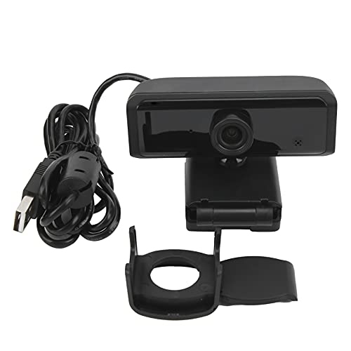 HD-Webcam, 90° Weitwinkel Computerzubehör Schwarze Computer-Webcam für Online-Kurse für Videokonferenzen für Live-Übertragungen