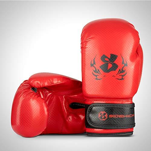 SIDEKICK Kinder Boxhandschuhe Gladiator Carbon Rot 177 g