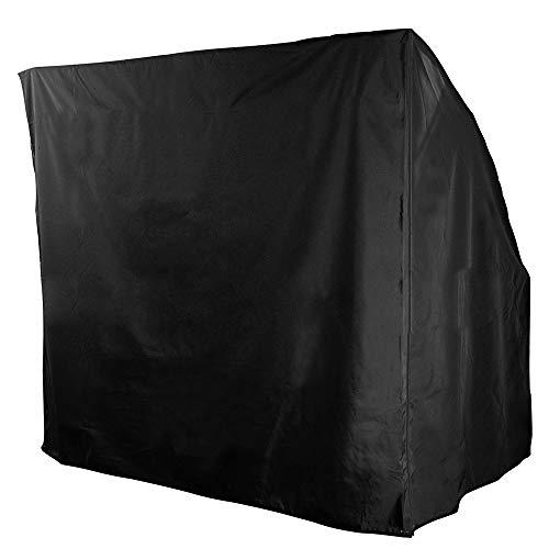 bennyuesdfd 3-Sitzer-Hollywoodschaukel, wasserdicht, für draußen, Garten, Terrasse, Hängematte, Sonnenschutz, Abdeckung, schwarz, 220 x 170 x 125 cm