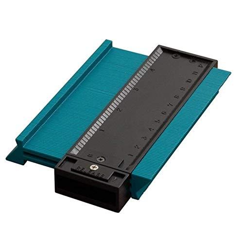 Transportador de ángulos Contorno Duplicación indicador carpintero herramienta regla de medición de la regla de radiante contorno medidor de contorno de marcado cortes de azulejos de azulejos herramie