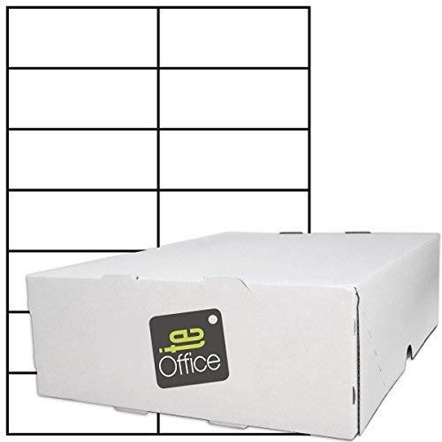 TE-Office 7000 Unidades Etiquetas adhesivas Etiquetas adhesivas Etiquetas de envío en A4 Arco blanco mate 105 x 42,4 mm Láser Inyección de tinta