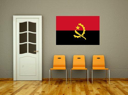 Kiwistar Wandtattoo Sticker Fahne Flagge Aufkleber Angola 80 x 53cm