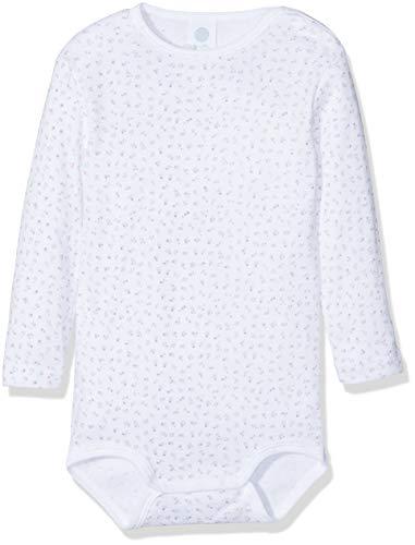 Sanetta Sanetta Baby-Mädchen 1/1 Allover Formender Body, Weiß (White 10), 68