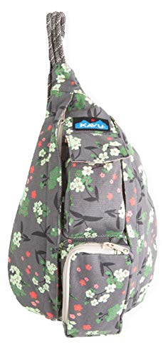 KAVU Mini Rope Bag Cotton Crossbody Sling  - Forest Blossom