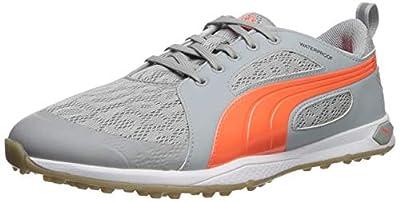 PUMA Women's Biofly mesh WMNS Golf Shoe, High/Rise/Fluorescent Peach, 7 M US