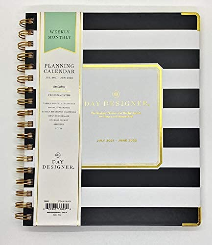 """Day Designer by Blue Sky June 2021 - July 2022 Weekly Monthly Vertical, Appointment-Style Planner, Size 7"""". 9"""" and Stylus Pen """""""