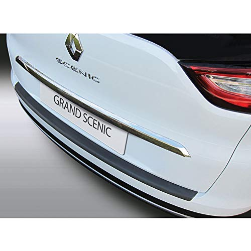 Protection de seuil arrière (ABS) compatible avec Renault Grand Scenic IV 10/2016- Noir