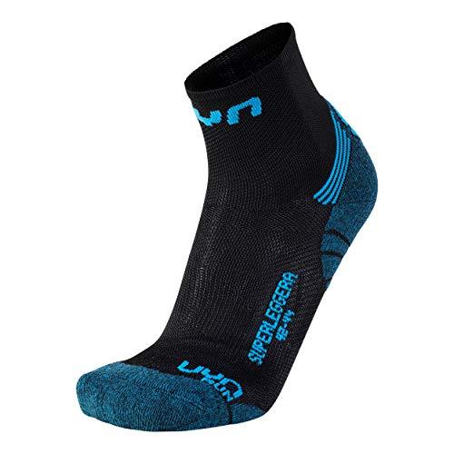 UYN Herren Run SUPERLEGGERA Socks Strumpf, Black/Indigo, 42/44