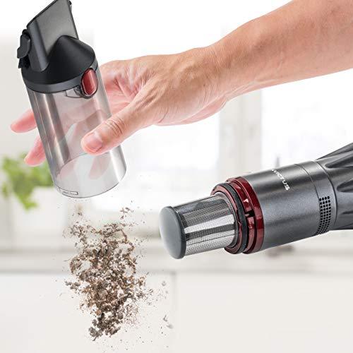 Genius Invictus One Hand-Staubsauger grau (11 Teile) Maximale Power im Handformat - Akku-Staubsauger beutellos und kabellos 90 Watt Hochleistungs-BLDC Motor und Zubehör - 3