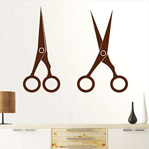 Cczxfcc Kappersstickers voor kapsalons, vinyltatoeages, wanddecoratie, raamdecoratie, 58 cm hoog