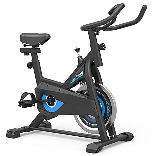 SAFGH Bicicleta estática, Bicicletas estáticas, Bicicleta de Fitness con Monitor LCD y cómodo cojín de Asiento, Bicicletas de Ciclismo para Interiores Whisper Quiet, Ejercicios de g