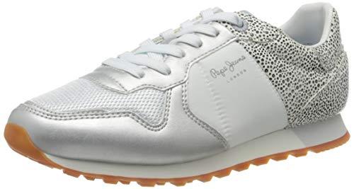 Pepe Jeans Verona W Set, Zapatillas Mujer, Color Blanco 800, 40 EU