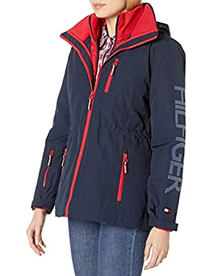 Tommy Hilfiger Women's 3 in 1 Systems Jacket, Navy, S from Tommy Hilfiger