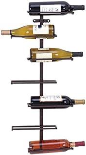 Deco 79Moderno de Largo del Vino Rack con 7Ranuras de Horizontal