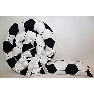 Bettrolle 200 cm Fußball JUNIA-SHOP.de 2,00 m Nestchen Bettschlange Bettschnecke Lagerungsrolle Baby Geburt Taufe…