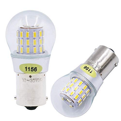 2 Packungen Warmes Weiß Super Hell 1156 7506 1141 Glühbirne Anpassbar an 10-30V DC - Für Rückfahrscheinwerfer Spiegelleuchten RV Licht 3500K