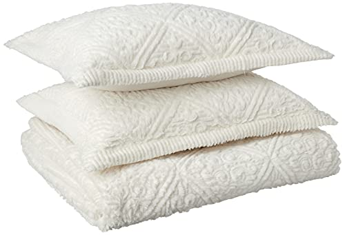 VCNY Home Westland Textured 3-Piece Bedspread Set, Queen with Bedspread and Shams