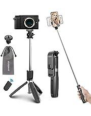 ELEGIANT Bastone Selfie Wireless, 4 in 1 Asta Selfie Stick Bluetooth 100cm con Treppiede e Telecomando Wireless per Samsung Huawei LG HTC 3,7-6,8in Cellulare Camera Gopro ecc