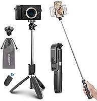 ELEGIANT Perche Selfie Trépied, Selfie Stick Bluetooth avec Télécommande Bâton de Selfie Angle Multi-Rotation Monopode...