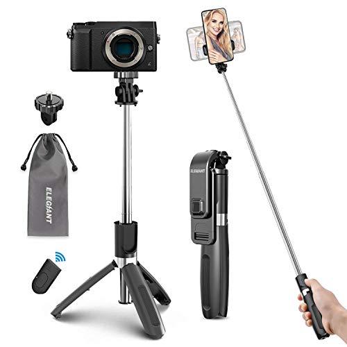ELEGIANT Selfie Stick Stativ 4 in 1 Selfiestick (100cm) Selfie-Stange Stab Dreibein mit Bluetooth Fernbedienung Handyhalter für Action-Kamera Gopro Smartphone