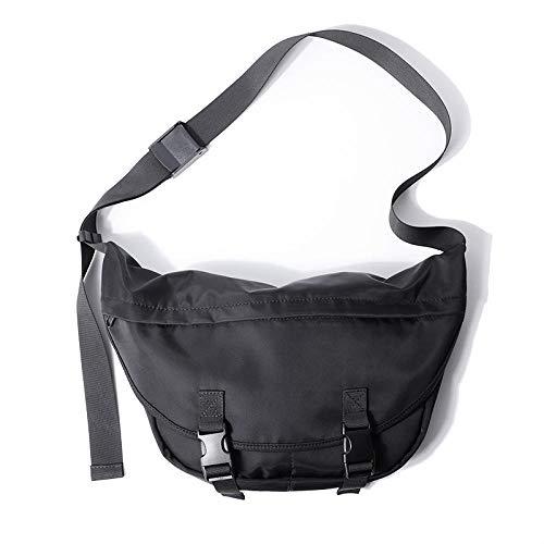 Eliphs Trendy street bandolera, mochila streamer messenger, bandolera, bolsa de gimnasia de gran capacidad para hombres y mujeres, mochila, bolsa de viaje, negro