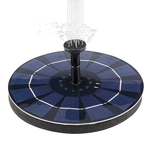 Fuente Solar para Estanque,Fuente Solar Bomba al Aire Libre,Bomba de Fuente Flotante Solar Decoración de Estanque de jardín, Tanque de Acuario,Césped,Circulación de Agua para Oxígeno