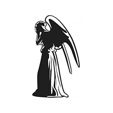 Bargain Max Decals Weeping Angel Whovian Who Sticker Decal Notebook Car Laptop 5.5  (Black)