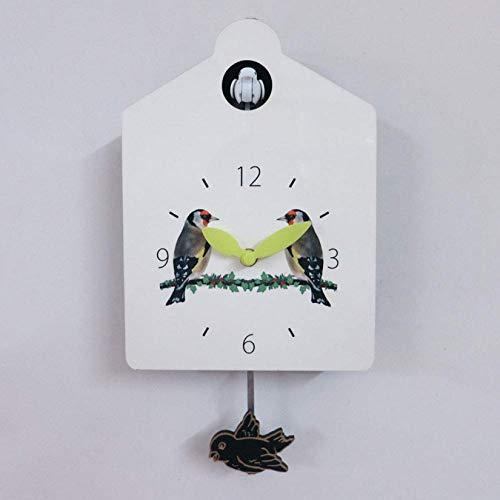 RONGJJ Reloj De Cuco Casita para Pájaros Grande, Llamativo Diseño De Casita para Pájaros Pequeña Sala De Estar Familiar única Hotel Jardín Decoración Artística