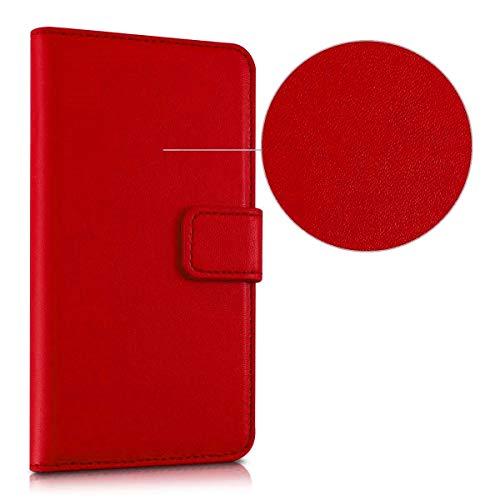 compatibile per' HUAWEI P8 LITE SMART' TAG-L01 TAG-L02 / GR3 Copertura CUSTODIA cover STAND FLIP libro magnetica GEL silicone tpu MORBIDA eco pelle portafoglio porta carte (ROSSO)