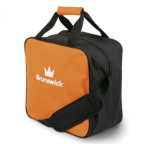 Brunswick TZone Single Tote 1-Ball-Bowling-Tasche für einen Bowlingball, Farbe:Orange