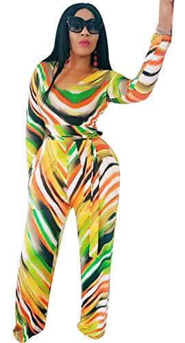 Targogo Jumpsuit Dames Elegant Lange Gestreepte Festival Herfst Winter Romper Mode Lange Mouw Ronde hals Hoge Taille Slanke Mode Feestelijke Jumpsuit Speelpak Avondkleding