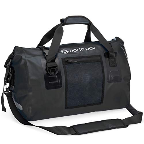 Earth Pak Waterproof Duffel Bag- Perfect for Any Kind of Travel, Lightweight, 50L & 70L Sizes, Large Storage Space, Durable Straps and Handles, Heavy Duty Material to Keep Your Gear Safe…