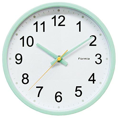 FORMIA 掛け時計 アナログ 連続秒針 ミントグリーン HWC-003GN