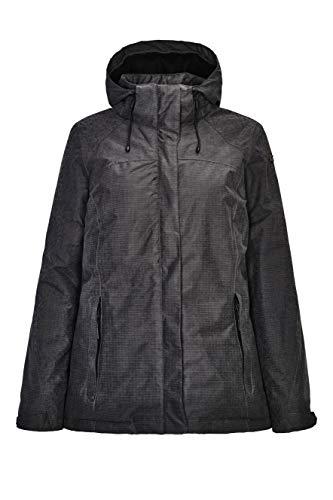 killtec Outdoorjacke Damen Nehle - warme Winterjacke mit Thermoprint - Funktionsjacke mit abzippbarer Kapuze - wasserdicht & atmungsaktiv, anthrazit, 46