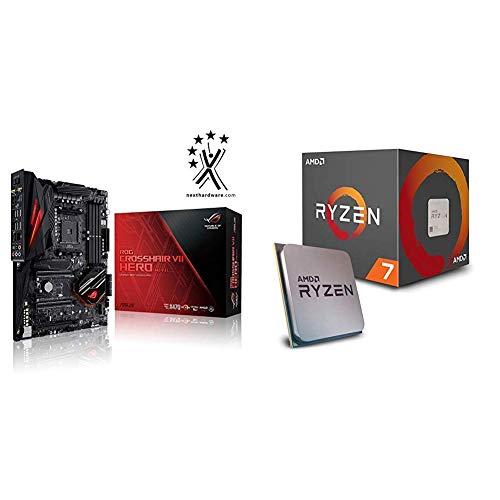 Pack Placa Base ASUS y Procesador AMD:ROG CROSSHAIR VII HERO (WI-FI) y AMD Ryzen 7 2700X
