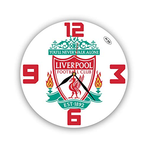 Gift Shop Exclusive Wall Clock Liverpool 11 Inch – Unique Item for Home and Office, Original Present for Every Occasion. Handmade. Plastic (Acrylic Glass)