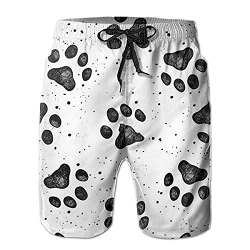 GOSMAO Bañadores para Hombre Sketches of Dog Prints Classic Summer Boardshorts con Bolsillos para Hombre