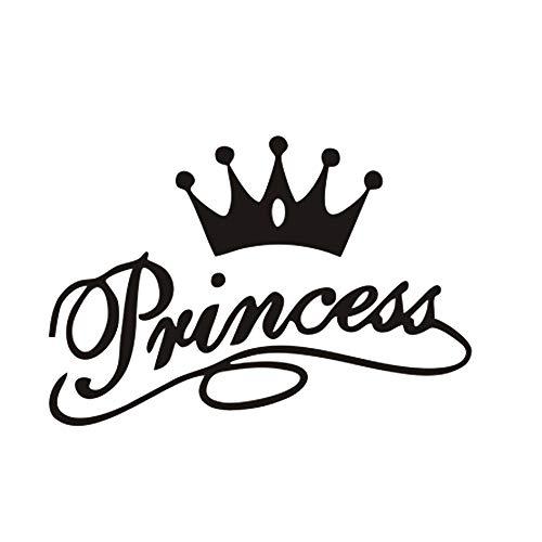 Prinzessinnenkrone Wandaufkleber, königliche Krone, Wandaufkleber, Vinyl-Kunst-Design, lustige Wanddekoration für Teenager, Kinder, Schlafzimmer, Spielzimmer, Heimdekoration