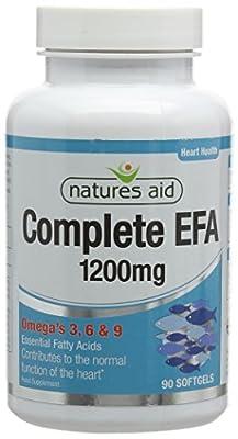 Natures Aid Complete EFA (Essential Fatty Acids) Omega 3 6 + 9 90 Caps