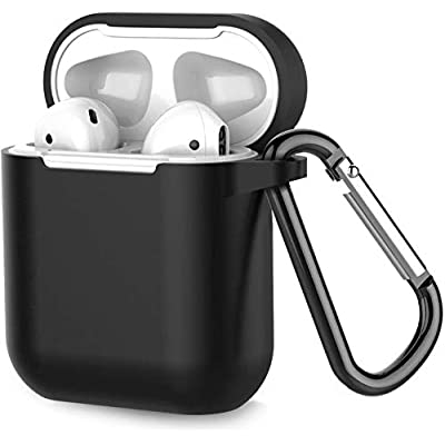 for Airpods Case Cover Silicone, Full Protective with Keychain 002