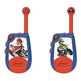 Lexibook- Mario Kart-Walkie-Talkies digitali per Bambini/Ragazzi-Portata 2km, Morse Luminoso, Clip da Cintura, Batteria, Blu/Rosso, TW25NI