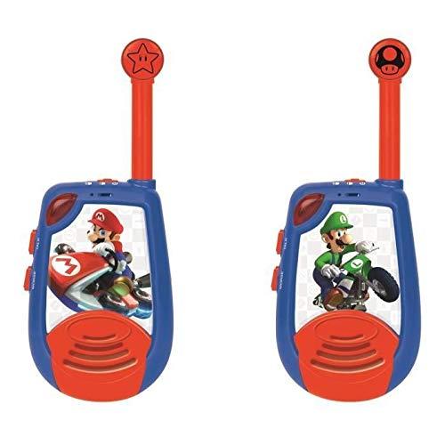 LEXIBOOK- Nintendo Mario Kart - Walkie-Talkies Digitales para Niños - Rango transmisión...