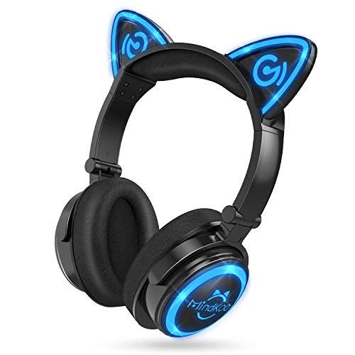 MindKoo Wireless Headphones Bluetooth LED Light Up 7 Color