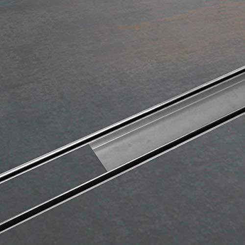 ESS edelstahl Duschrinne flach befliesbar Komplettset Easy Drain Compact 30 FF 80 cm