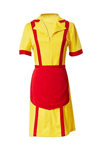 Costume di Max e Caroline Diner Cameriera Fancy Dress Halloween Cosplay